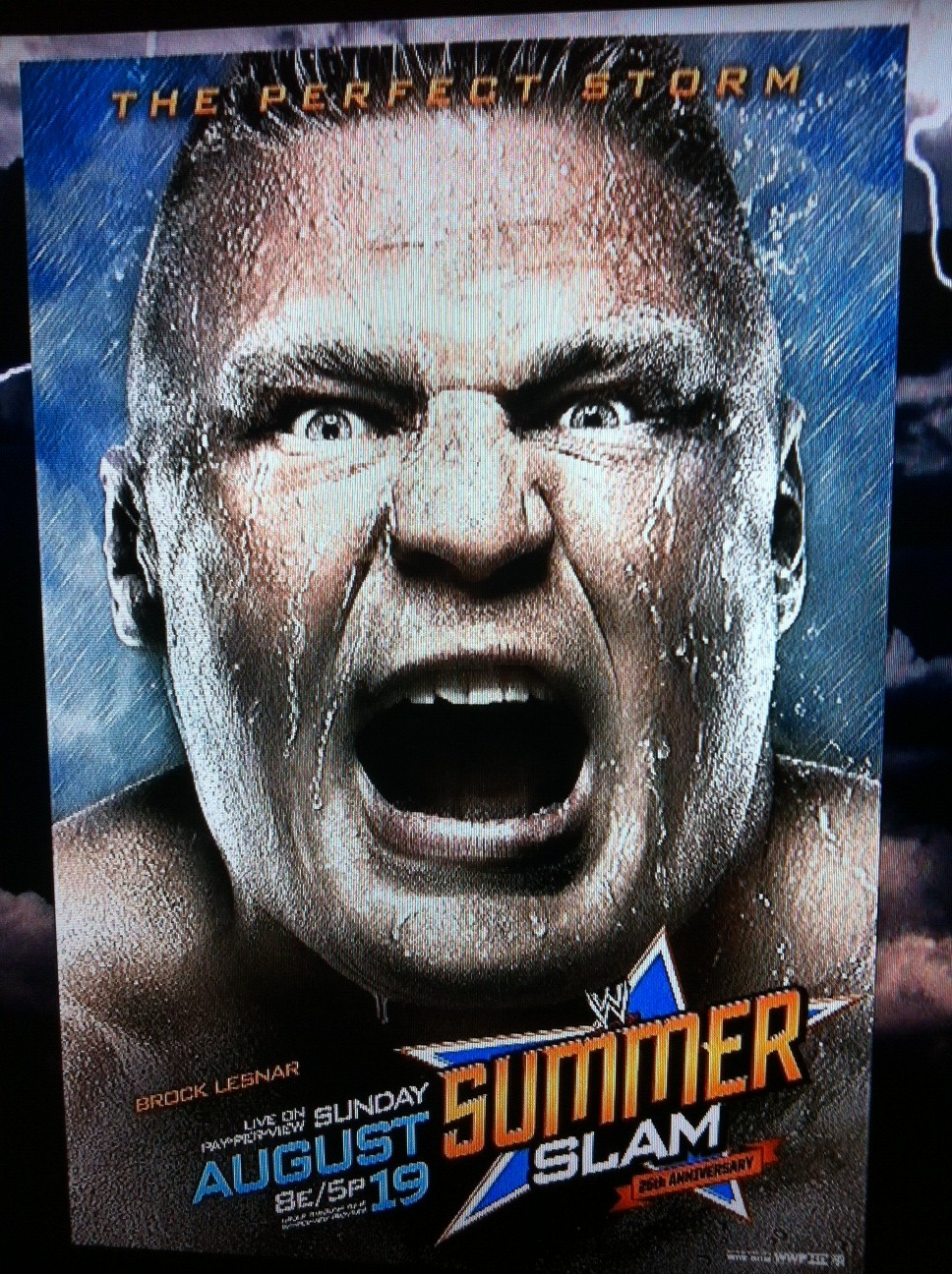WWE SummerSlam 2012 Poster Revealed Featuring Brock Lesnar ...