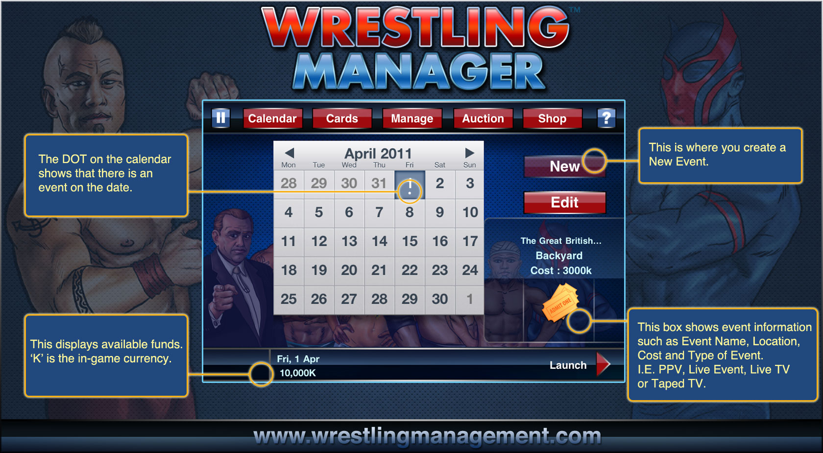 wrestlingnewssource com featured in wrestling manager ios game